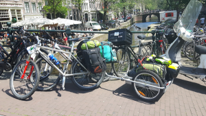 Parked up while we walked around Amsterdam